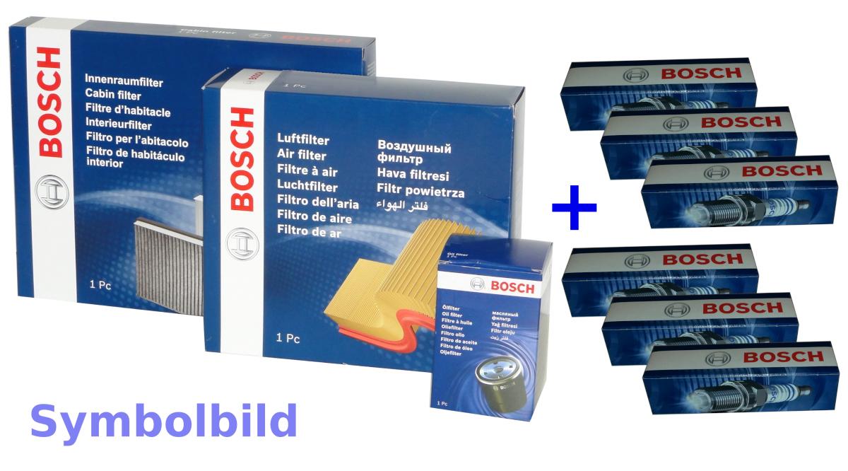 E87,E88,E82 E90,E93,E92,E91 6 BOSCH Zündkerzen+Filtersatz für BMW 1er ,3er